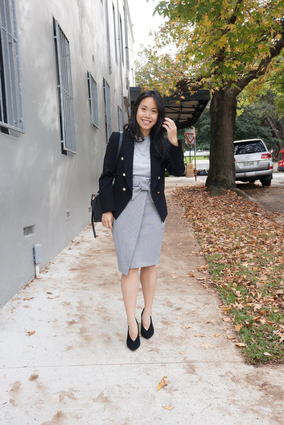 woman in job interview outfit
