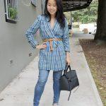 jackets as tops - zara tweed jacket belted