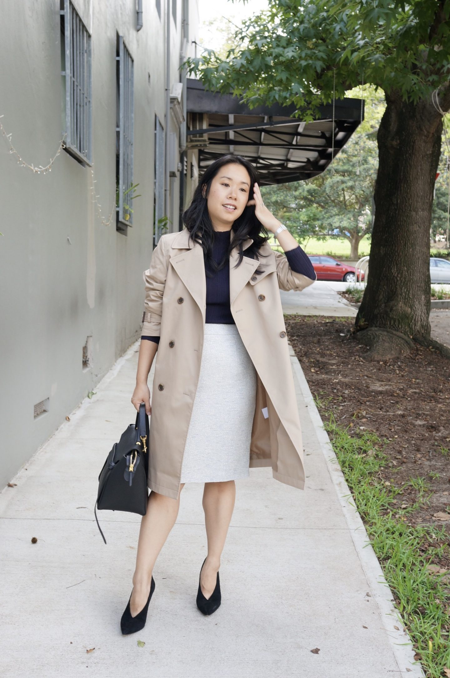 uniqlo trench coat styled 4 ways