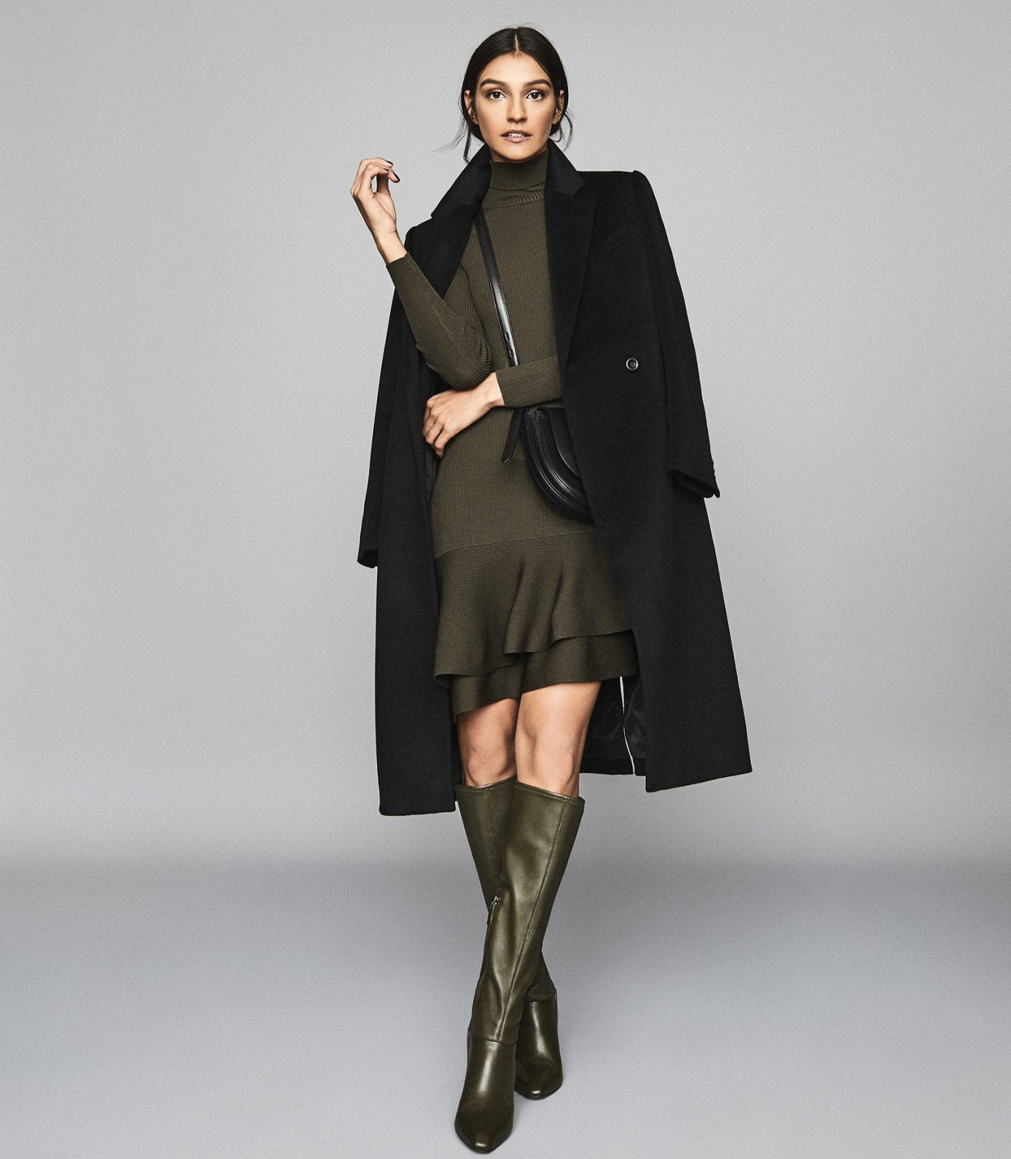 woman in autumn winter reiss workwear
