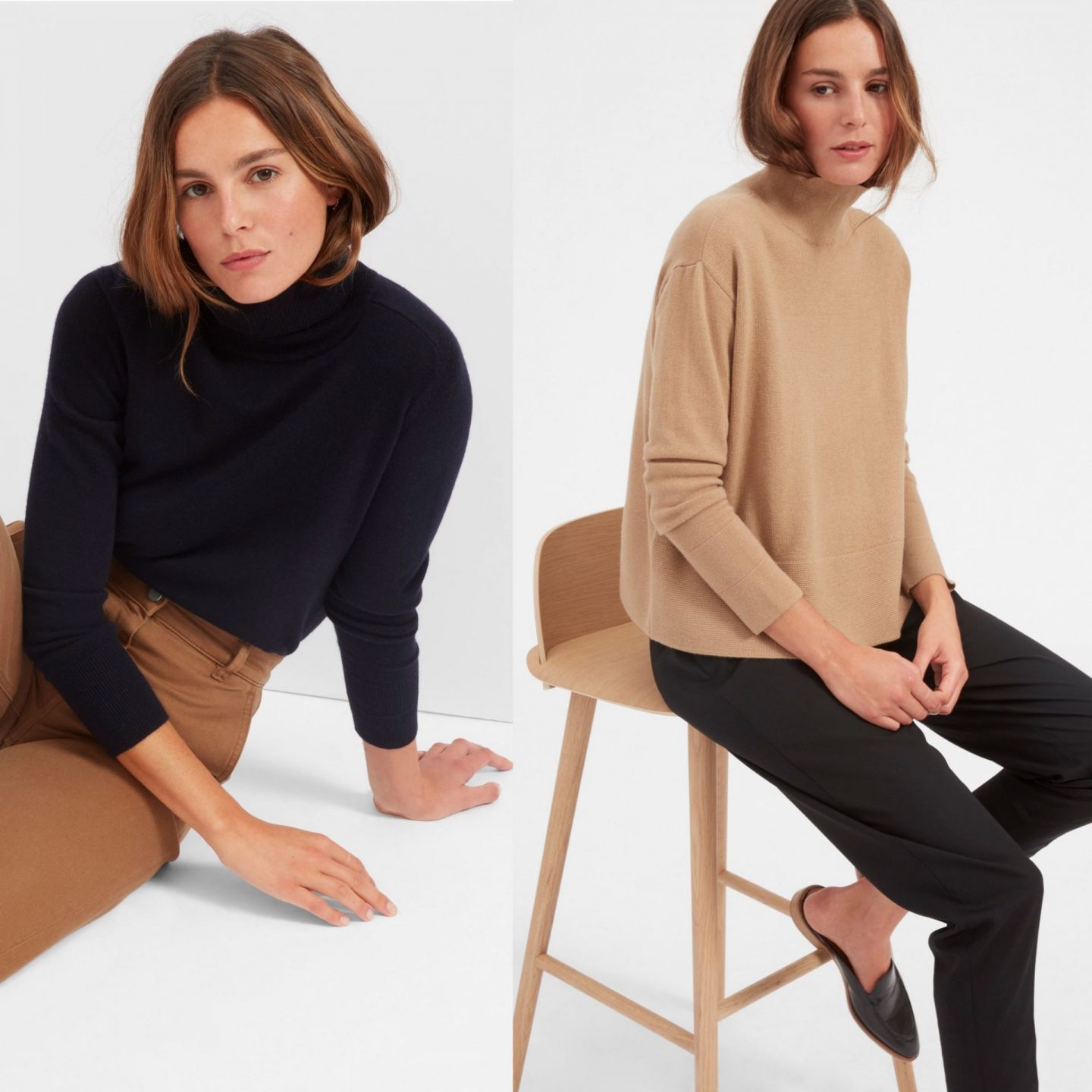 everlane cashmere and workwear favourite
