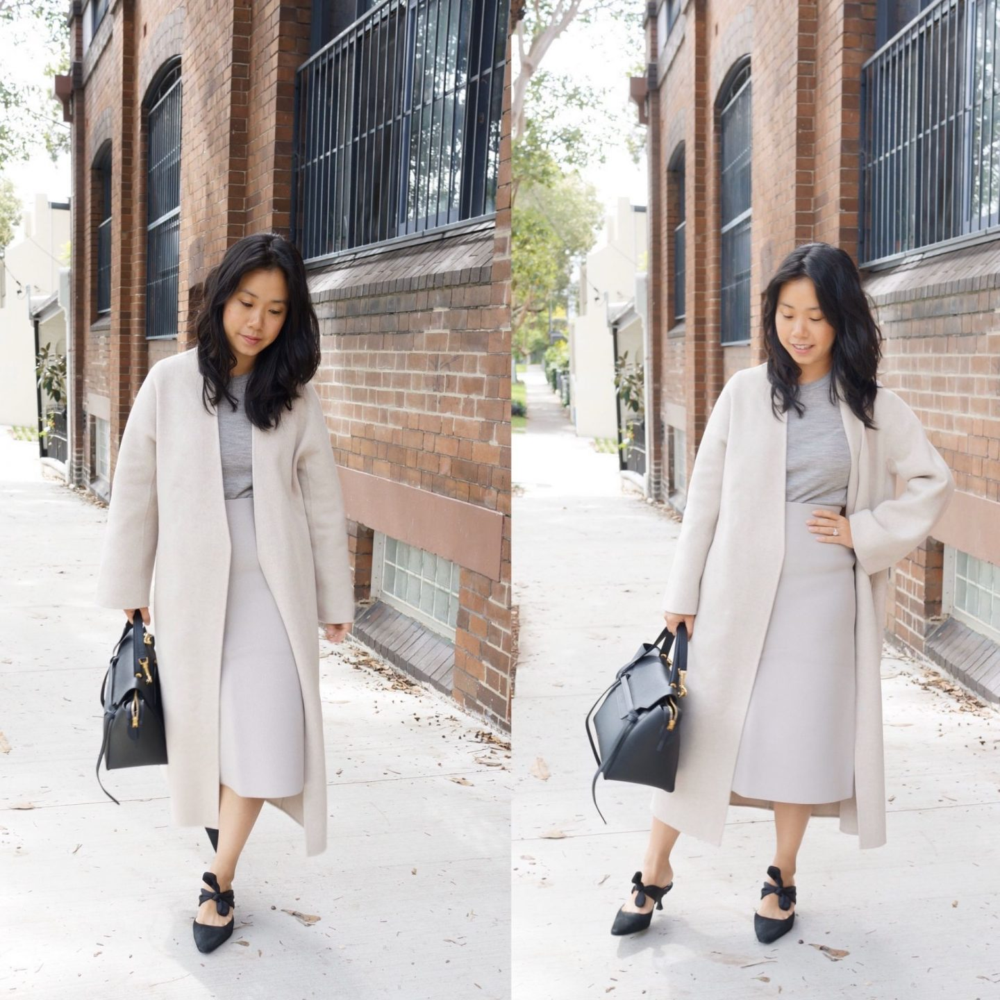 stylish winter coats - lighter neutral