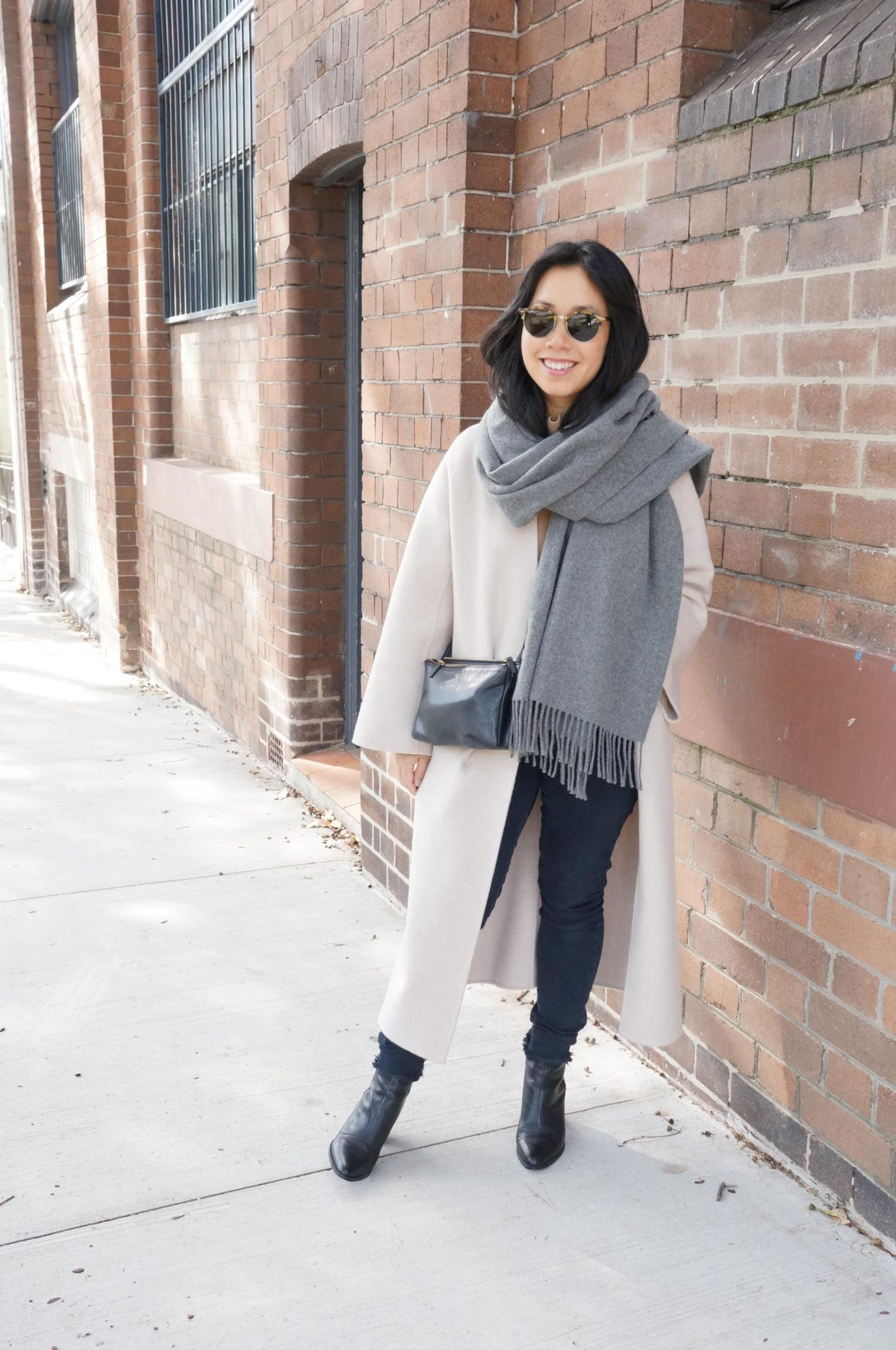 Autumn Outfit: The Curated Coat, Ankle Boots & Acne Studios Scarf