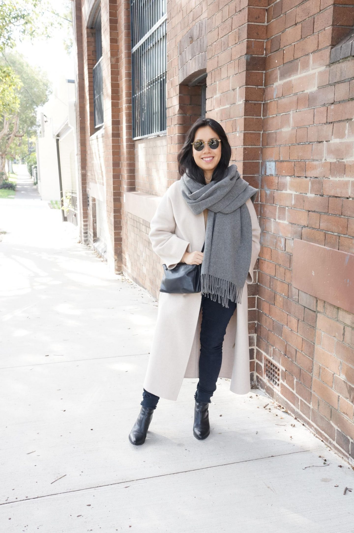 autumn outfit featuring the curated coat and acne studios scarf