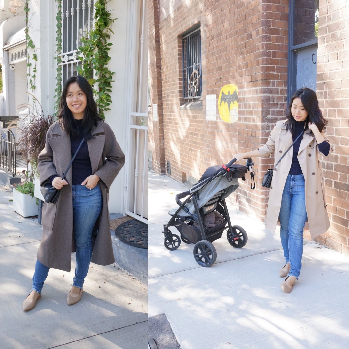 everlane 40 hour flat in taupe