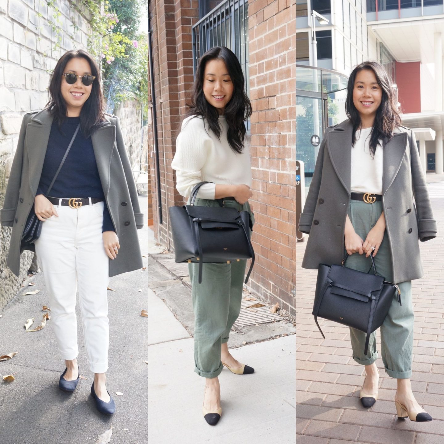 clothing colour combinations of khaki and white