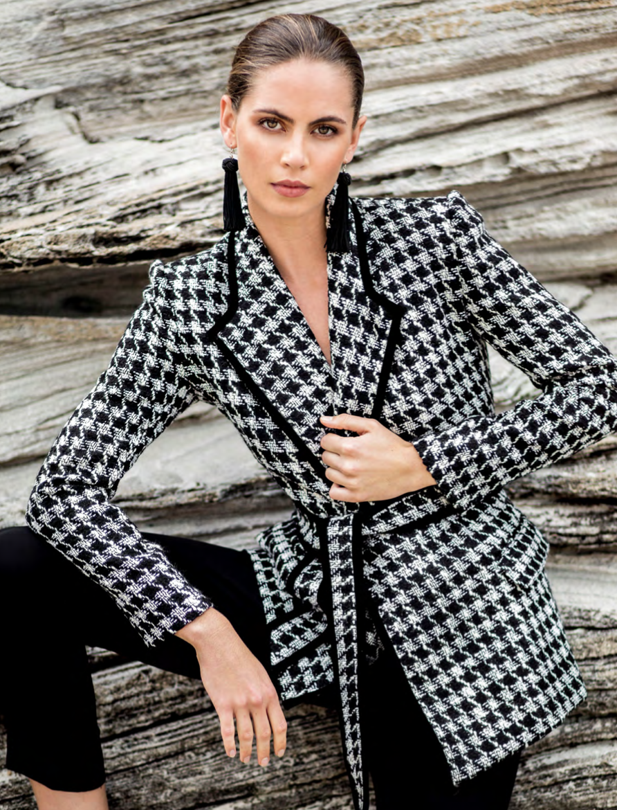 sarah lloyd herringbone jacket