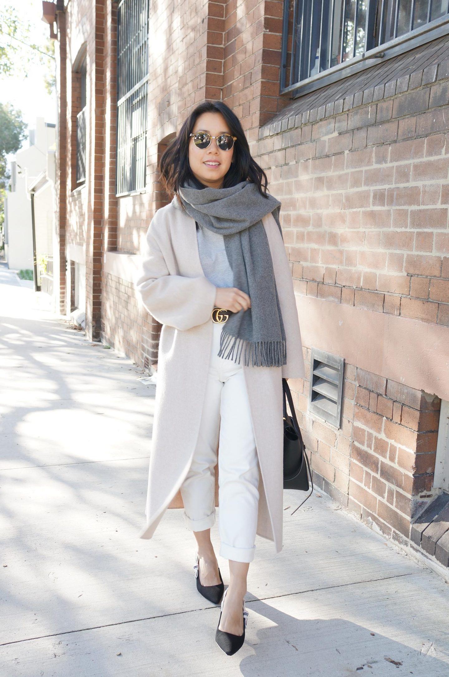 petite style tips, dior slingbacks and the curated coat