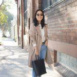 uniqlo trench coat styled 4 ways with dior j'adior slingbacks