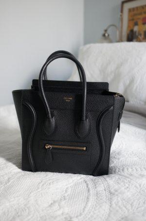 celine bag collection featuring celine micro luggage black bag