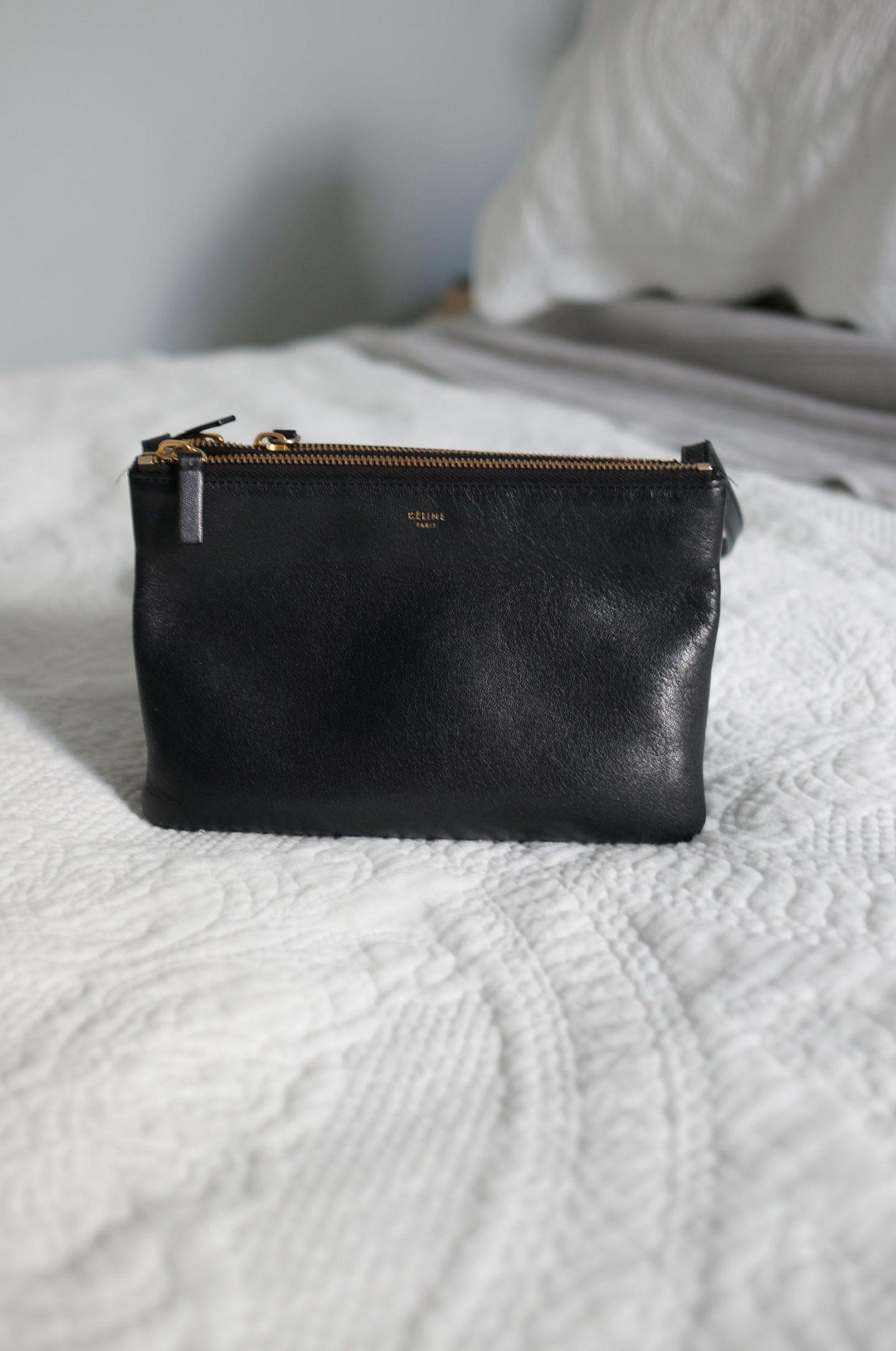 celine bag collection featuring celine trio bag in black