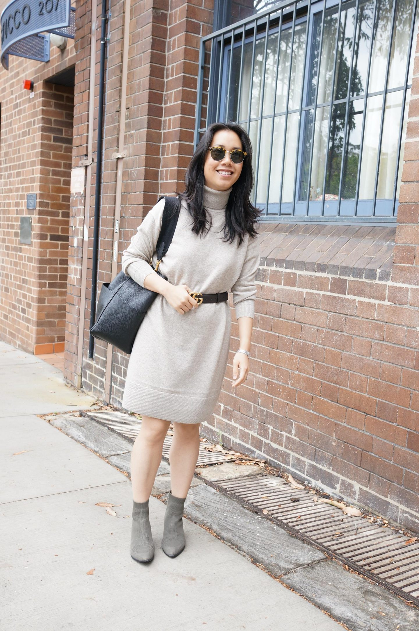 everlane favourites of 2020 featuring cashmere turtleneck dress