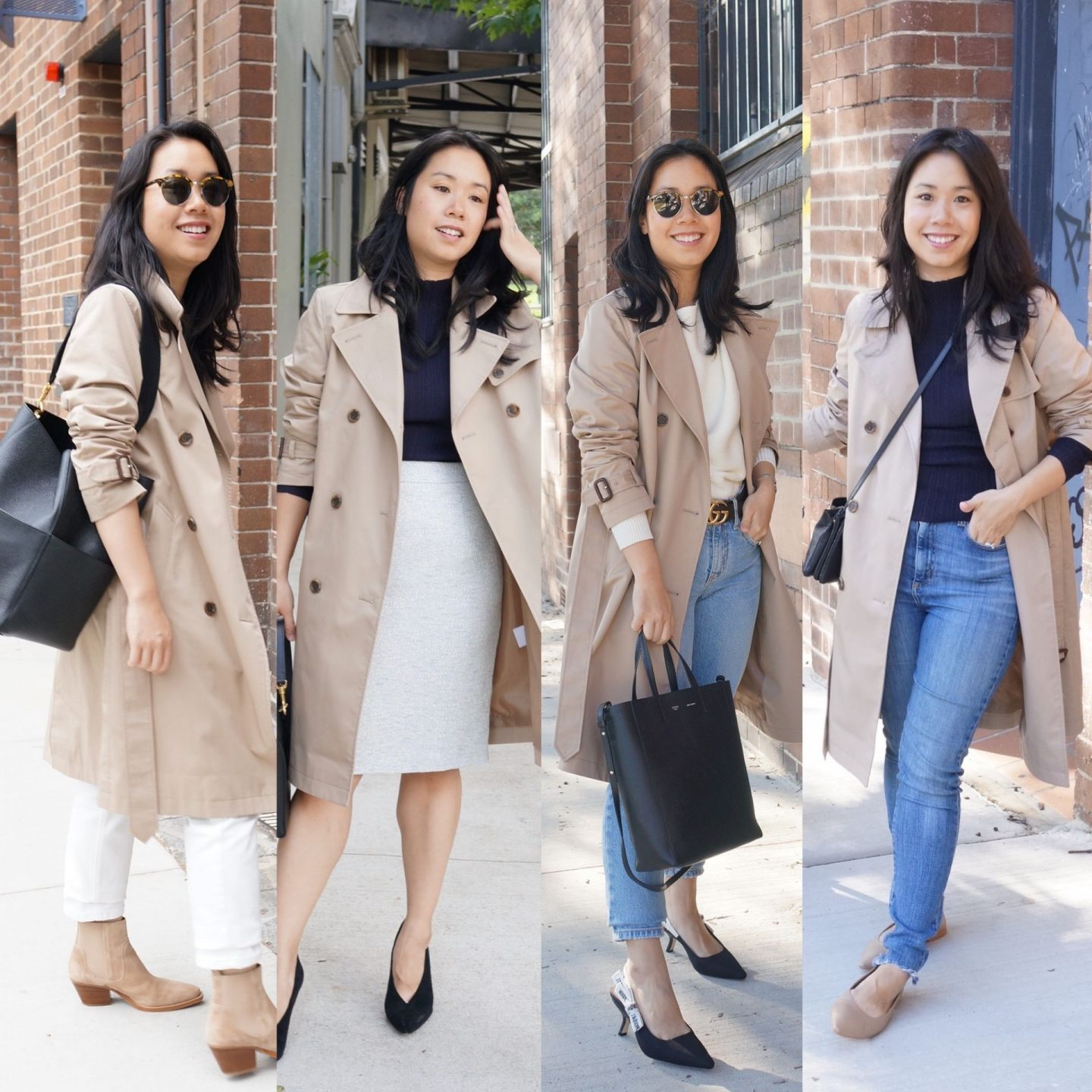 ways to style a beige trench coat