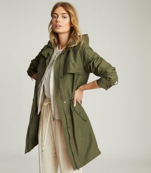 reiss lightweight khaki parka with shopping hack for discount new season reiss