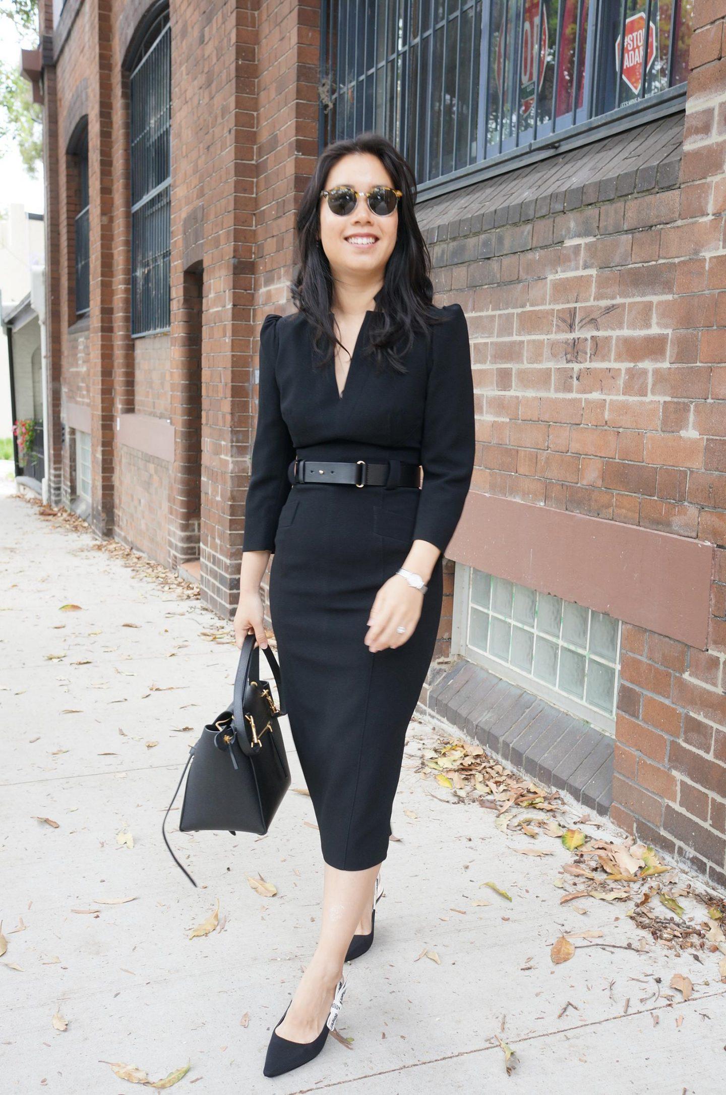 karen millen sale featuring forever dress in black and celine belt bag