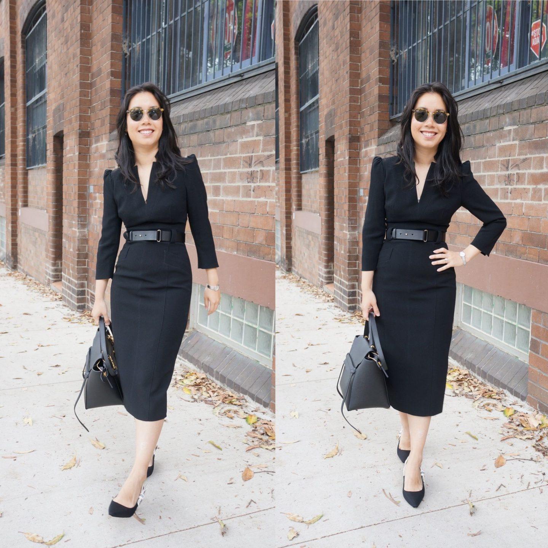 karen millen forever dress in black