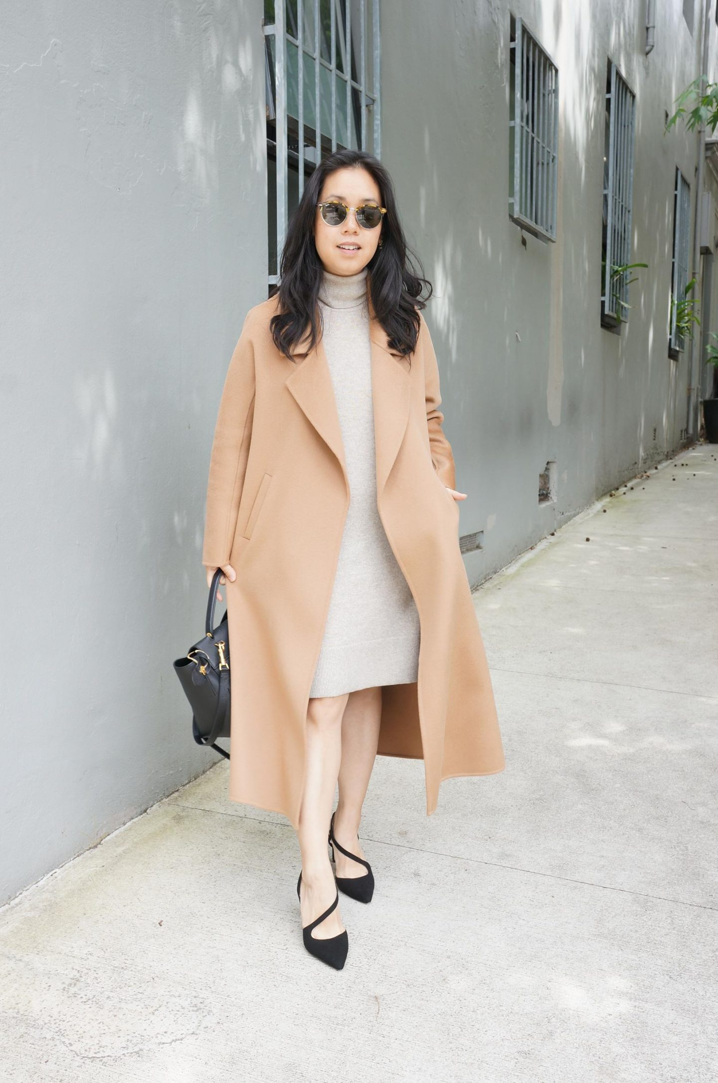 recent wardrobe purge blog post featuring the curated tailored coat