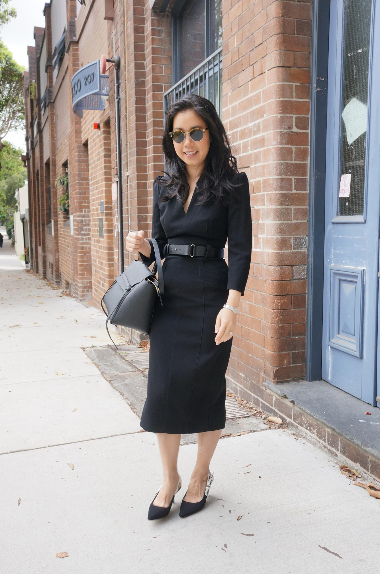 karen millen forever dress styled in blog post about setting clothing budgets