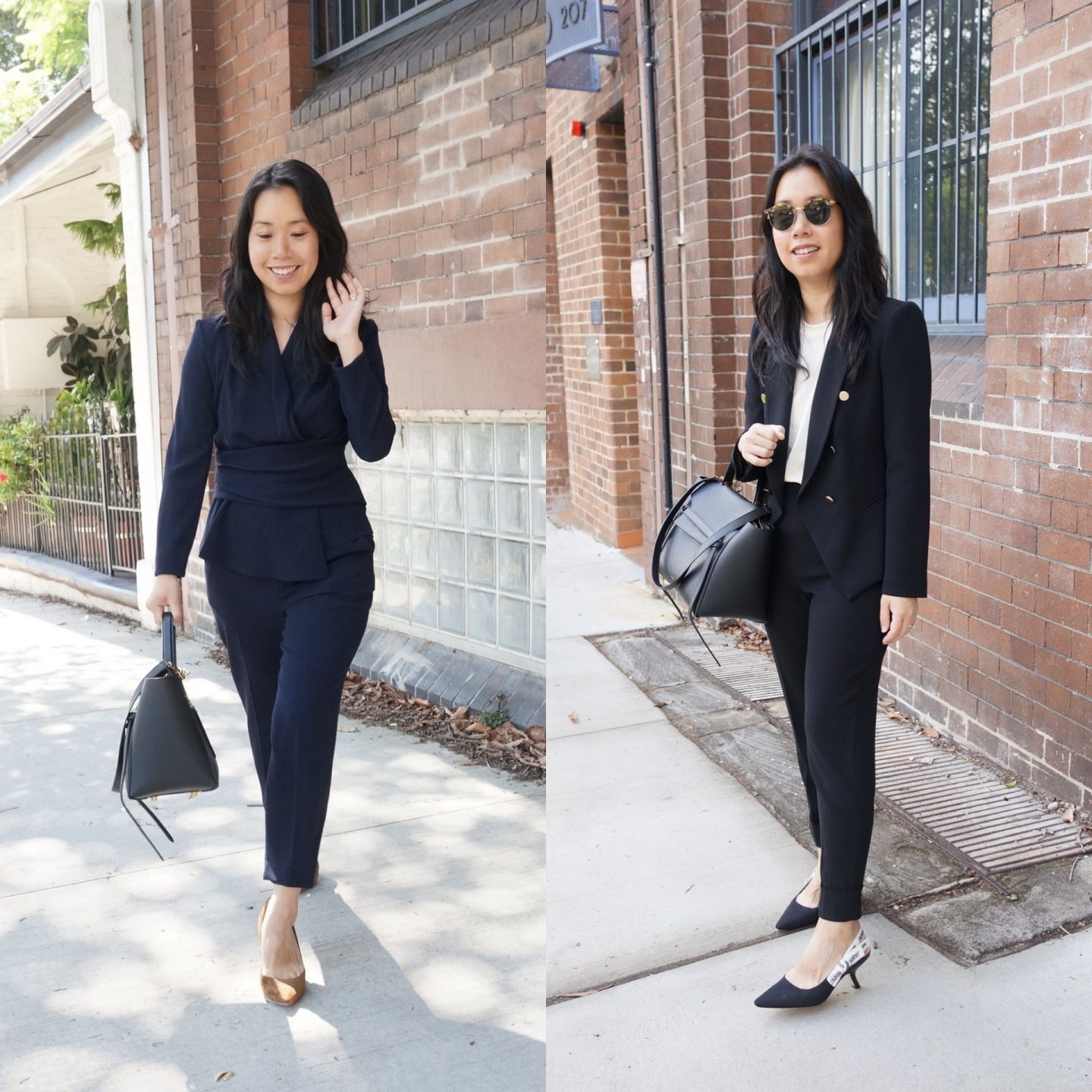 trouser and pant suits in blog post about power dressing outfits