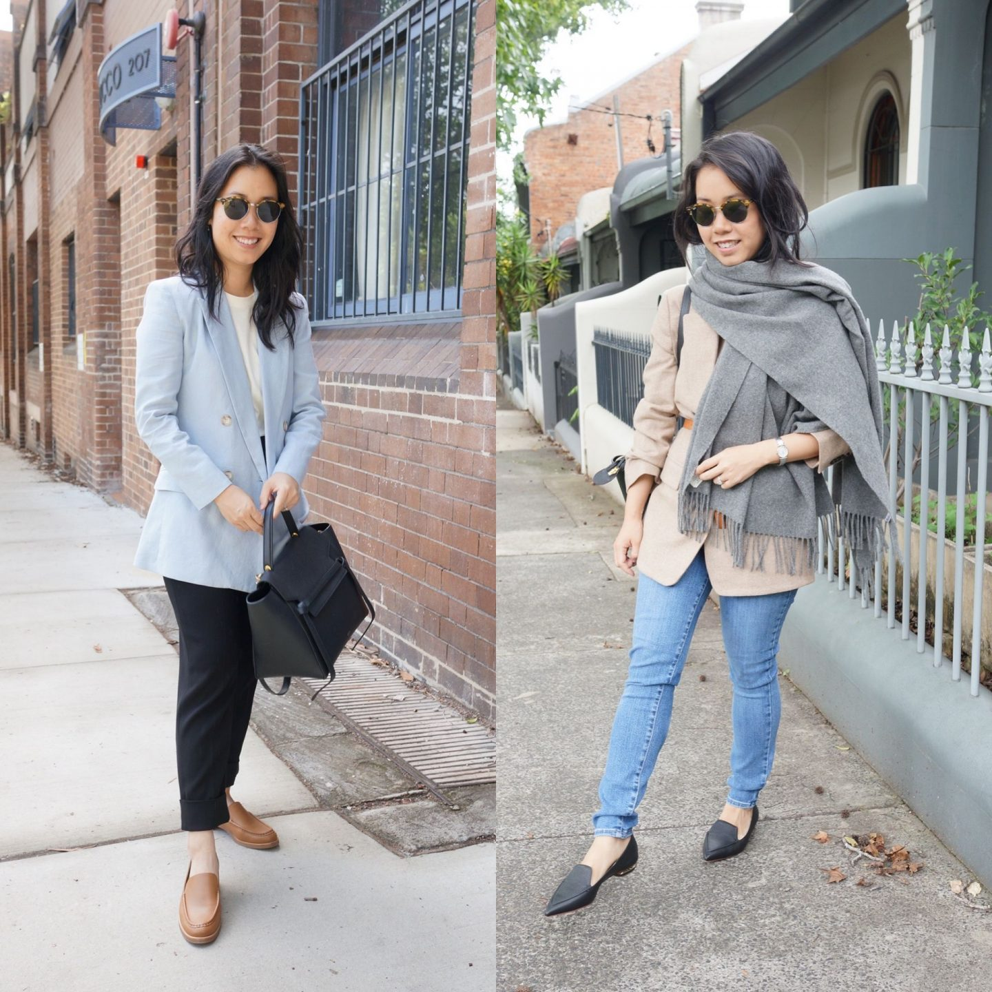 power dressing outfits and inspiration featuring blazer and jeans for casual friday