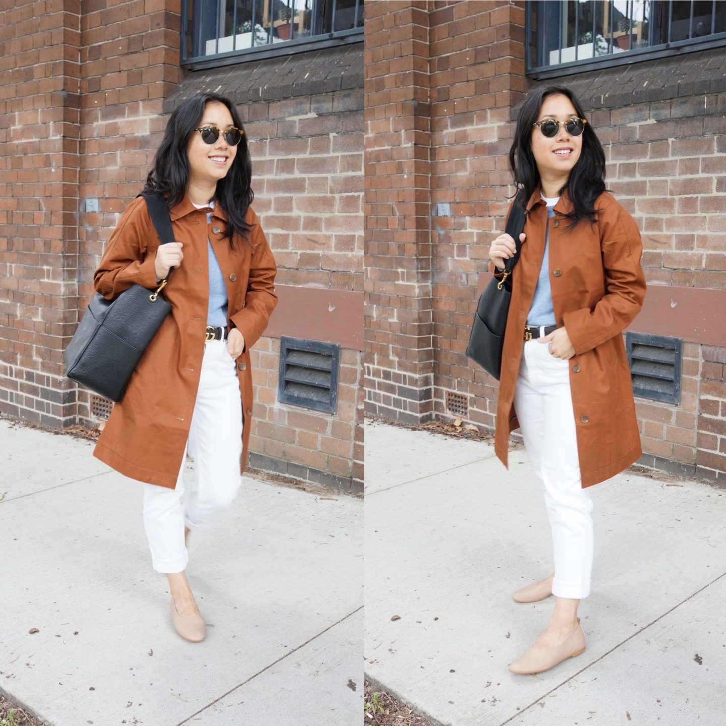 everlane mac coat in blog post about everlane jackets and outerwear for transitional seasons
