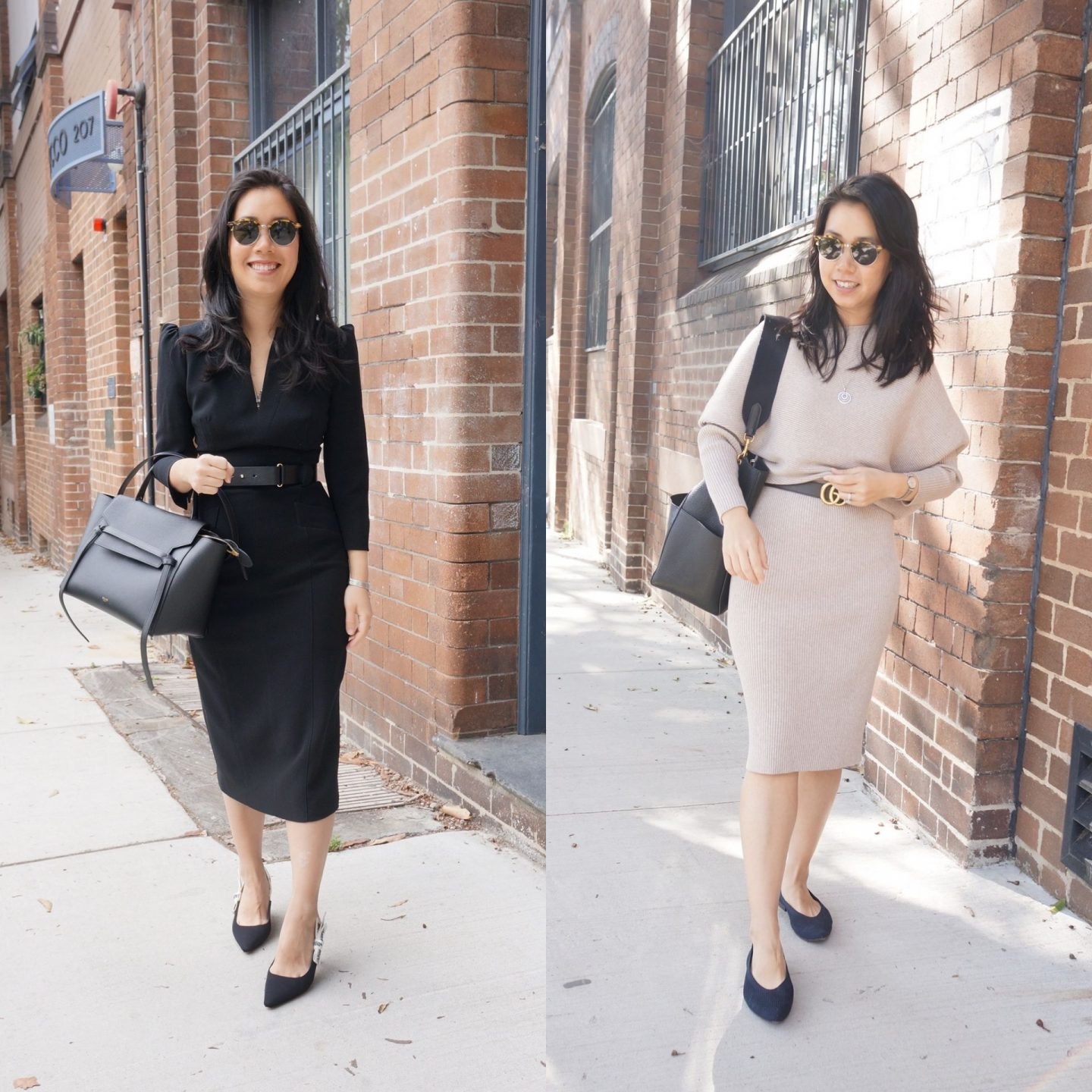 power dresses in blog post about power dressing outfits and inspiration featuring karen millen dress and reiss dress