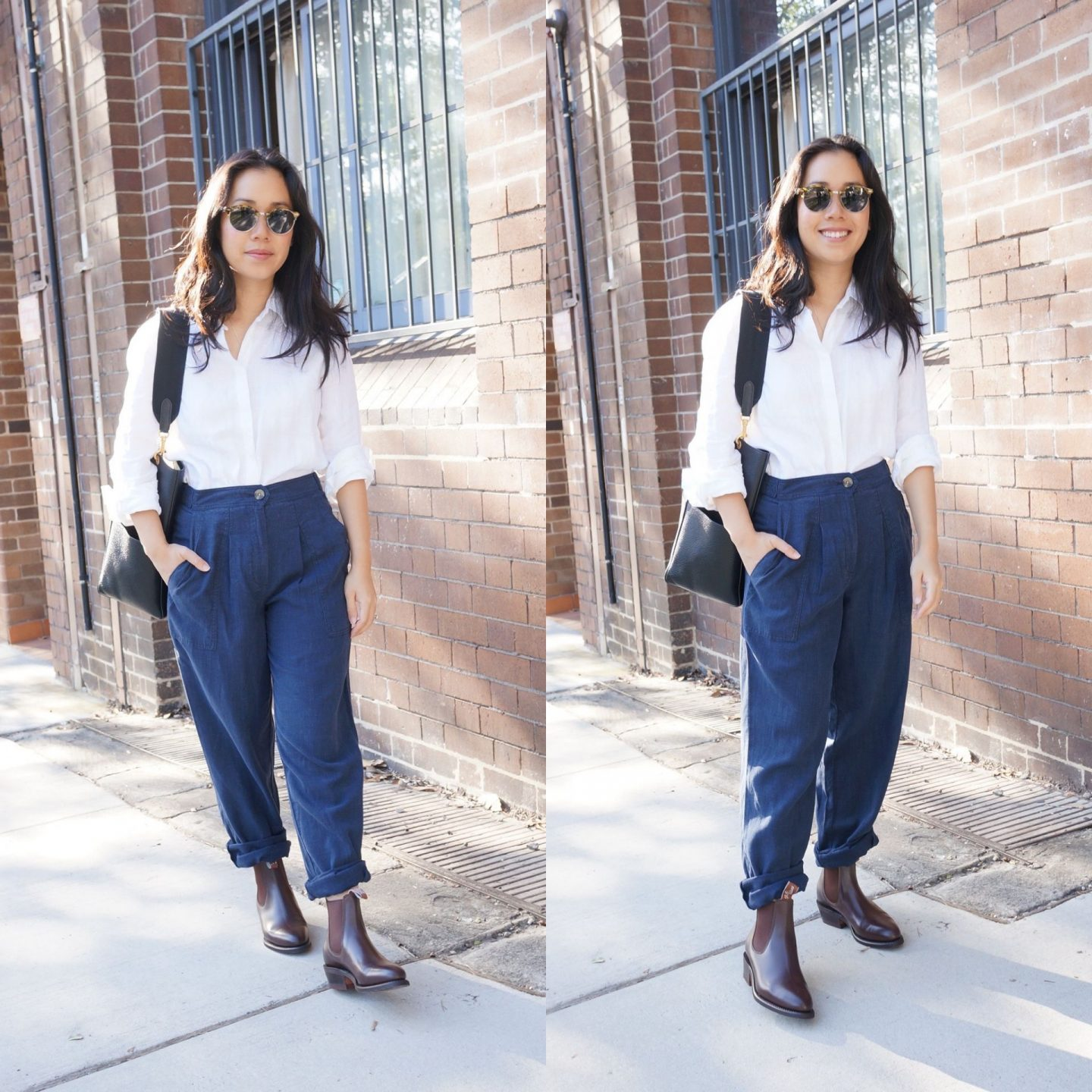 asian workwear blogger wearing r.m. williams lady yearling boots with marks & spencer sale finds