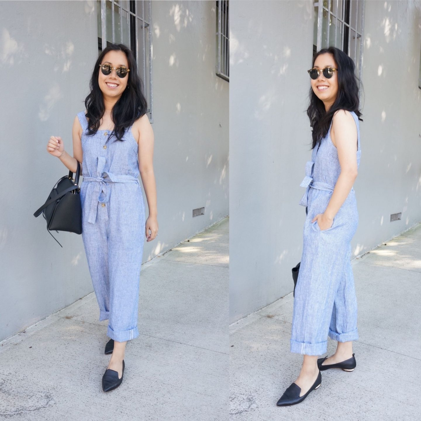 autumn favourites from everlane featuring linen picnic jumpsuit