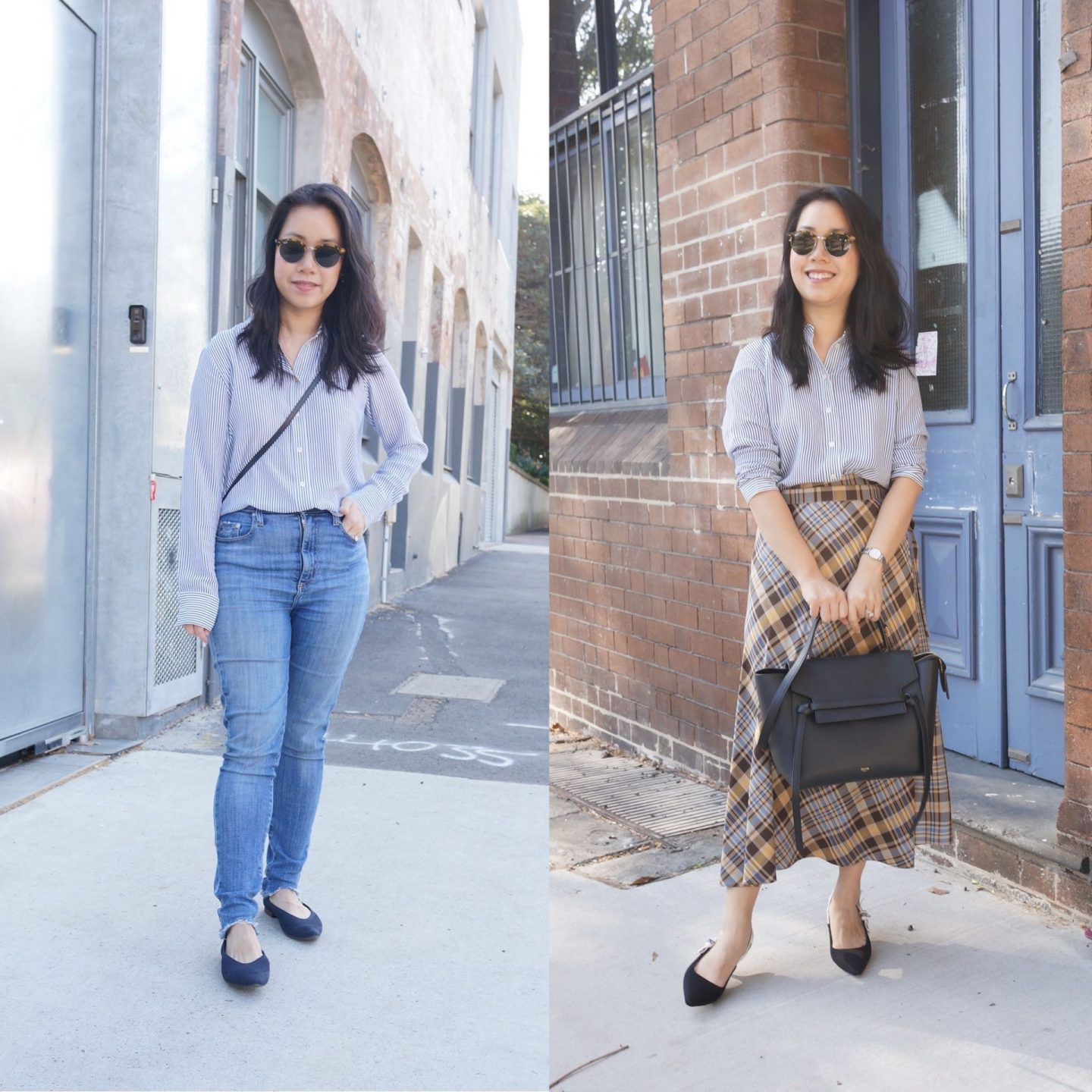 everlane clean silk relaxed shirt in blog post about everlane workwear favourites