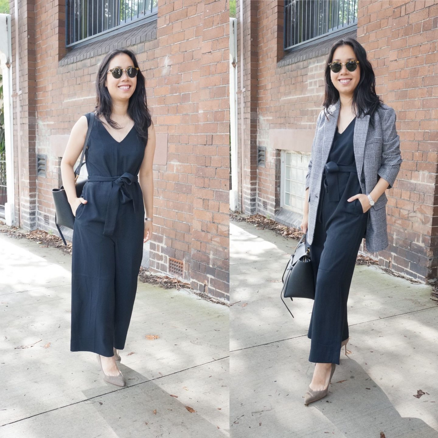 everlane essential jumpsuit in blog post about everlane workwear favourites