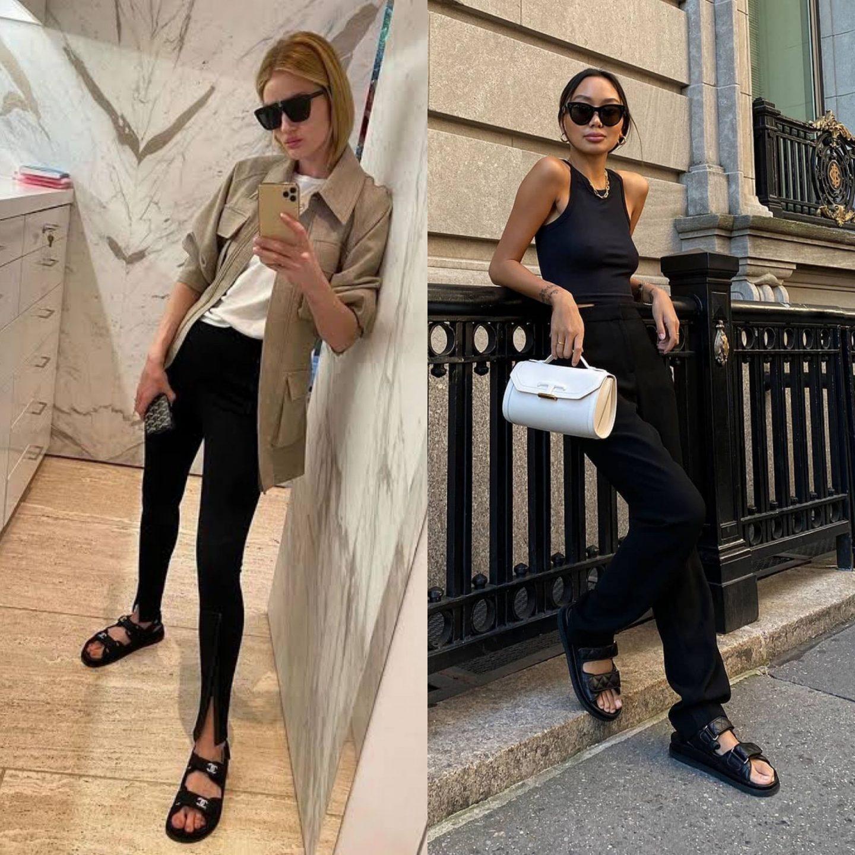 chanel dad sandals in blog post about designer shoe dupes