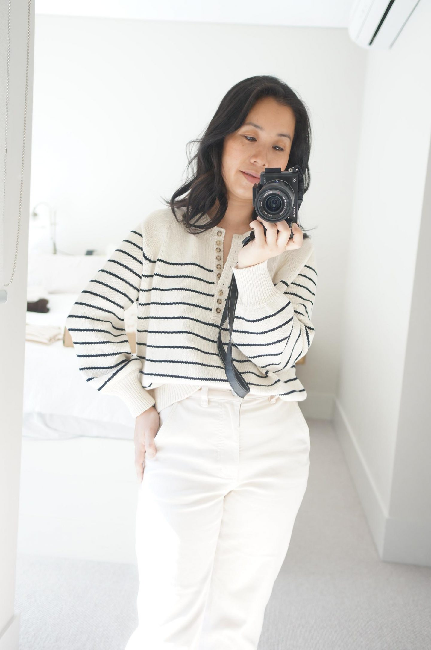 sezane leontine jumper try on and first impressions review