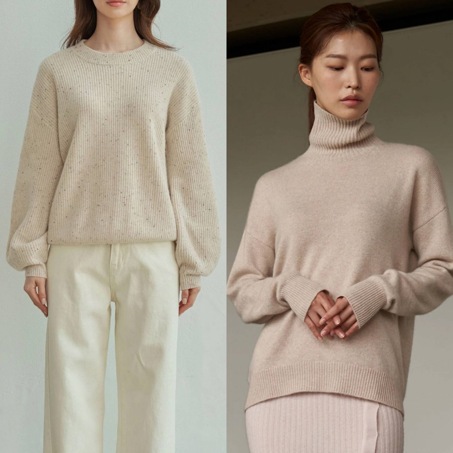 the curated knits in blog post sharing best knitwear of 2021