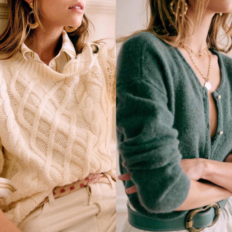 sezane knits in blog post sharing best knitwear of 2021
