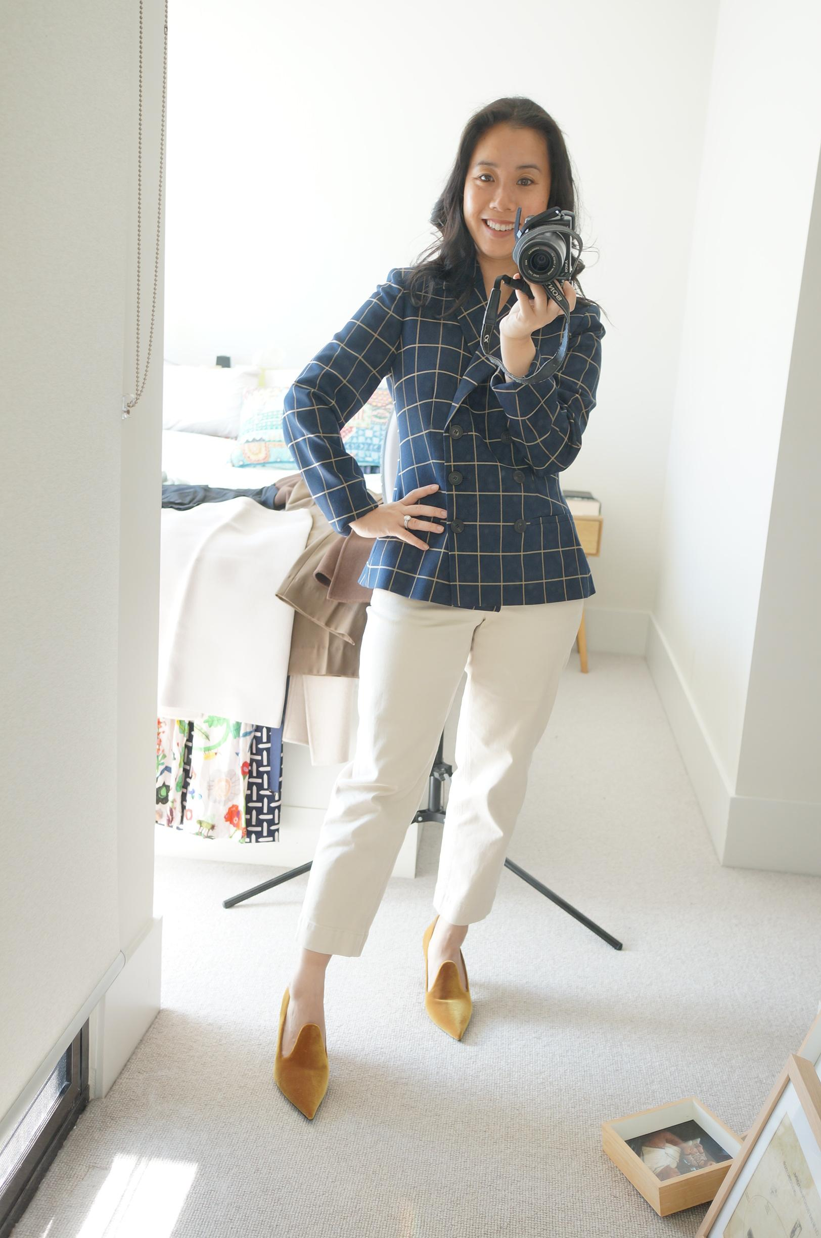 sydney based workwear style blogger sharing give blazer and jeans outfits