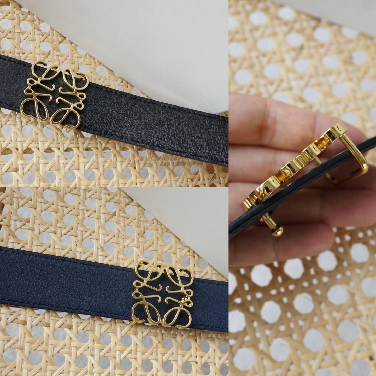 reversible loewe belt in blog post sharing review and belt comparison
