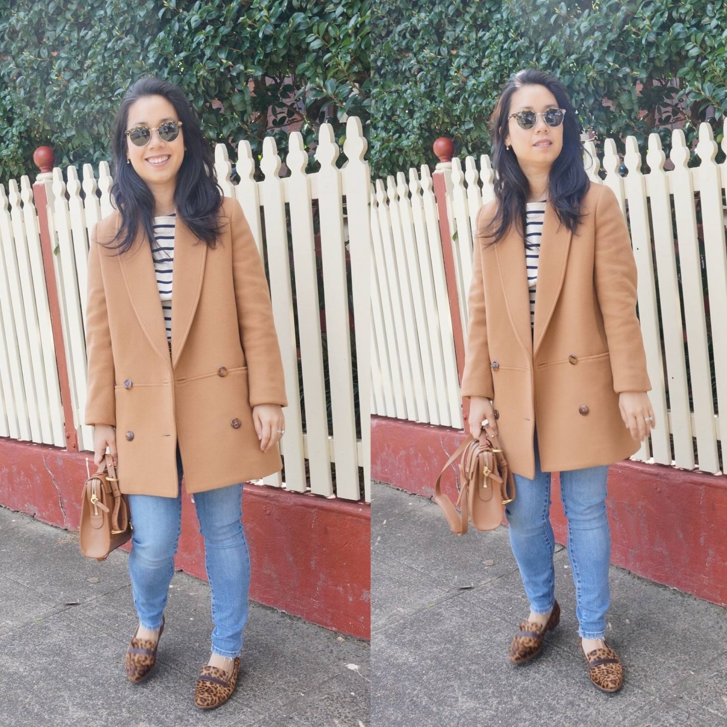 sezane james coat in blog post sharing thoughts on sezane order and knitwear