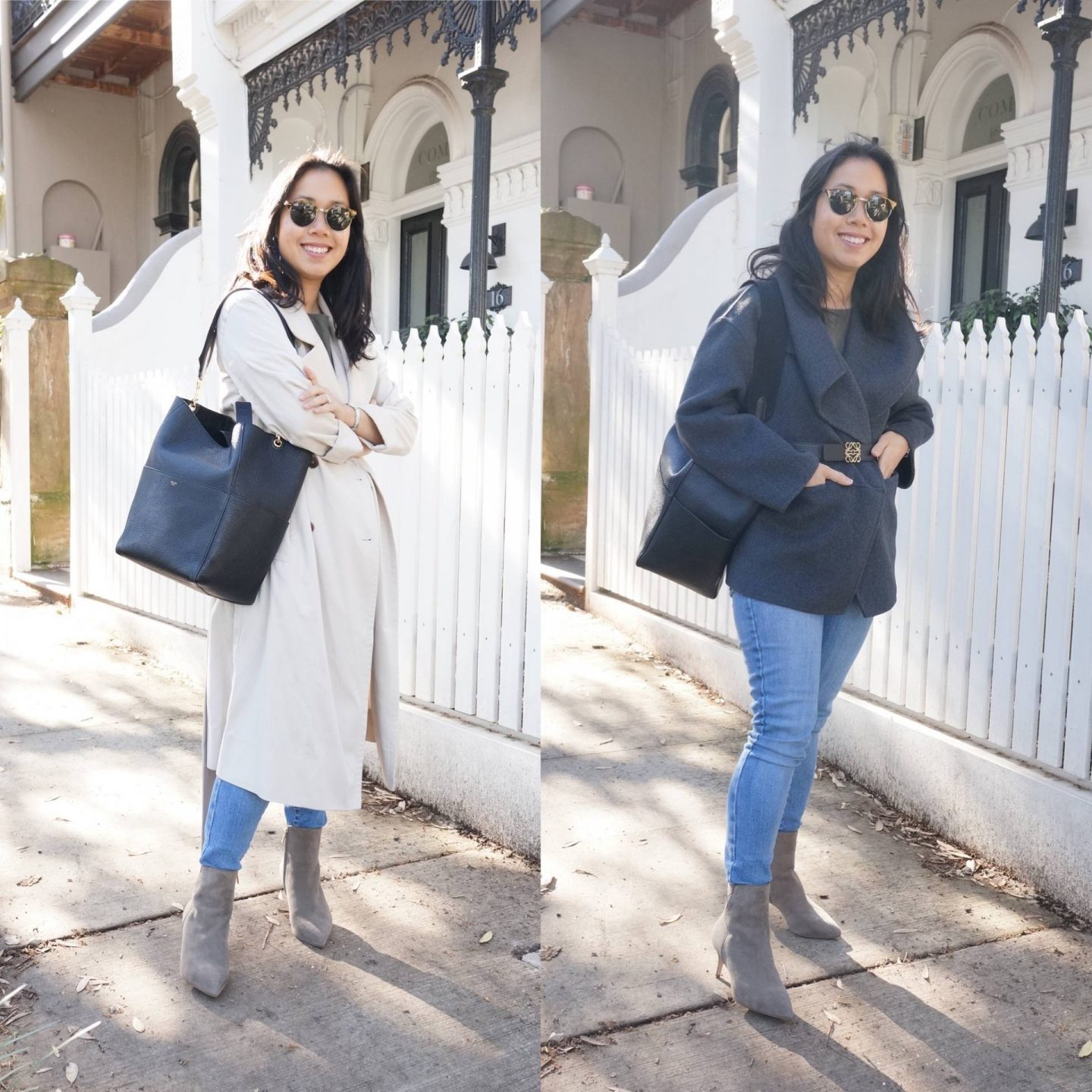 petite workwear blogger wearing sarah flint perfect dress bootie in blog post sharing review of boots